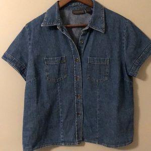 Relativity women's denim shirt size large